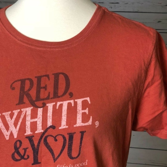 Life Is Good Tops - Life is Good Small Patriotic T-Shirt Red White You
